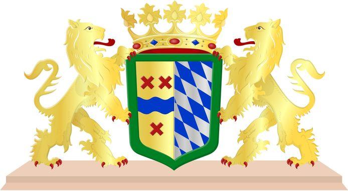 De leeuwen op het wapen van Hoeksche Waard houden meer dan één schild vast.