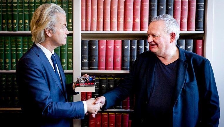 Geert Wilders en Joost Niemöller. Beeld anp