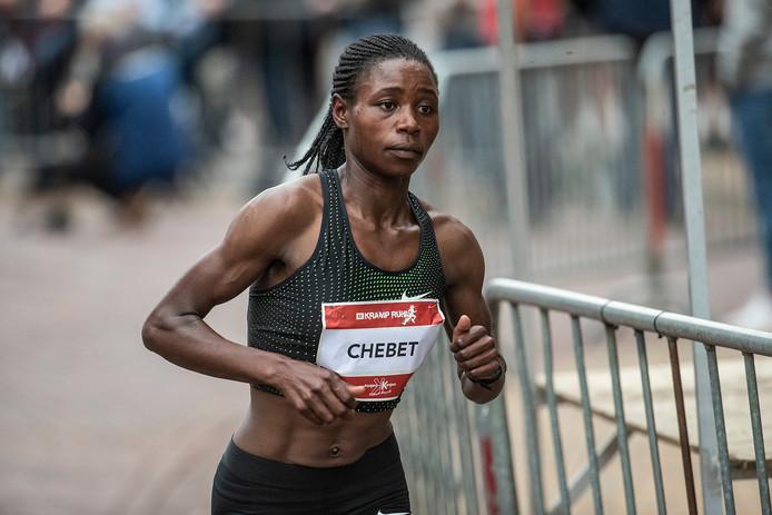 Winnares Esther Chebet uit Oeganda. Foto Jan van den Brink