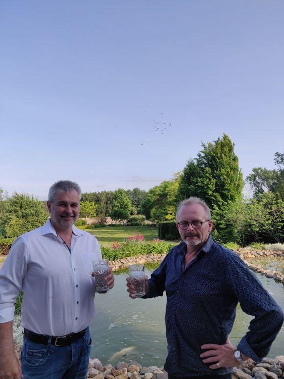 Ronny Puyneers en Walter Willems pleiten voor minder kalk in het water