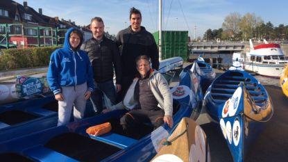 """Roeien van Oostende naar Aalst voor het goede doel: """"Plopsa steunt 'Roei for Life 2019-XXXXXL'"""""""