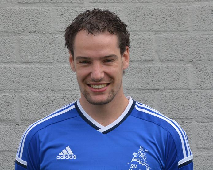 Erwin Isbouts maakte een van de twee doelpunten van Valkenswaard.