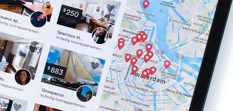 De website van Airbnb Beeld anp