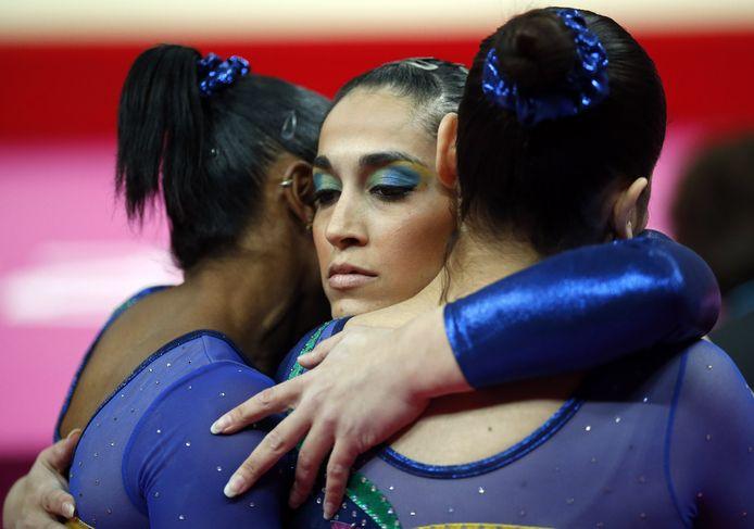 Enkele meisjes van het Braziliaanse team