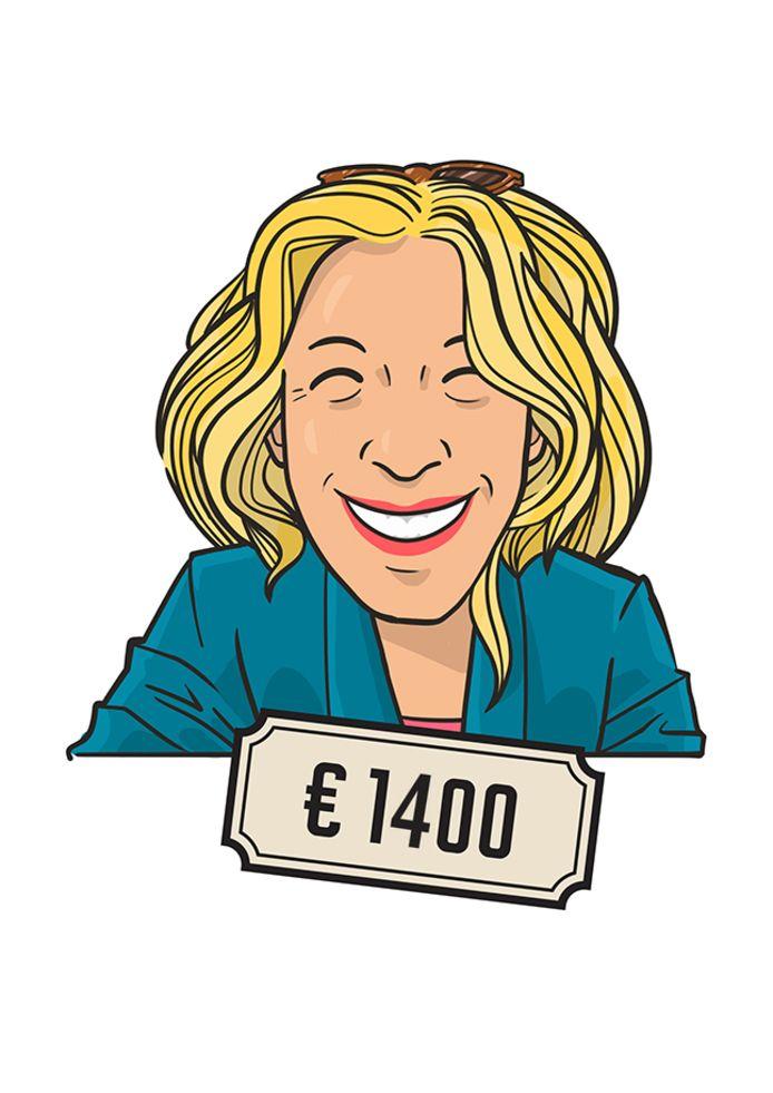 Agaath Hoekstra (55) verdient ruim 1.400 euro per maand voor 20 uur werk.