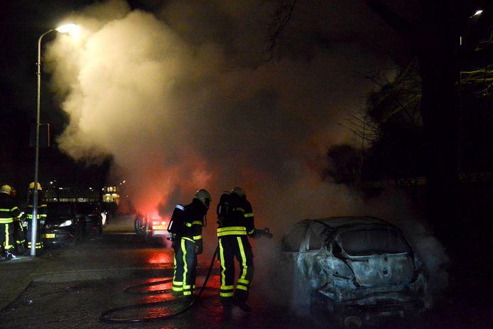 Drie autobranden in dezelfde nacht in Breda.