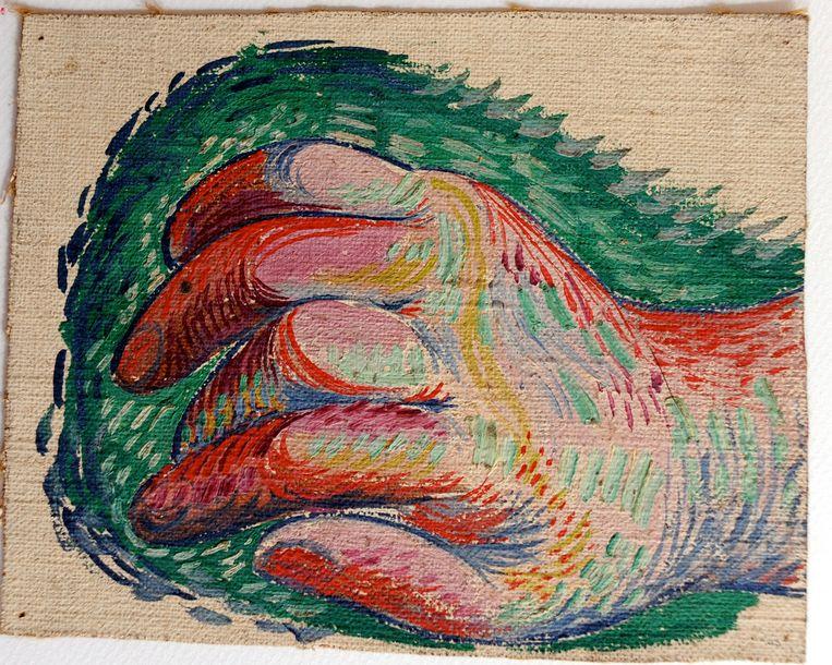 Een tot nu toe onbekend werk van Picasso uit de verzameling van een gepensioneerde Franse eletricien. Beeld ap