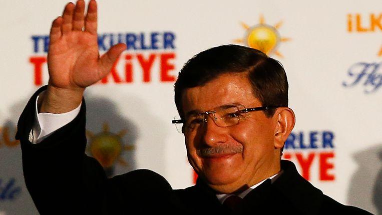 De Turkse premier Ahmet Davutoglu. Beeld reuters