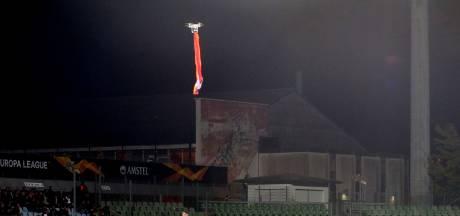Drone met Armeense vlag verstoort EL-duel