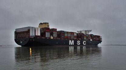 Nieuw recordschip MSC Leni aangekomen in Deurganckdok