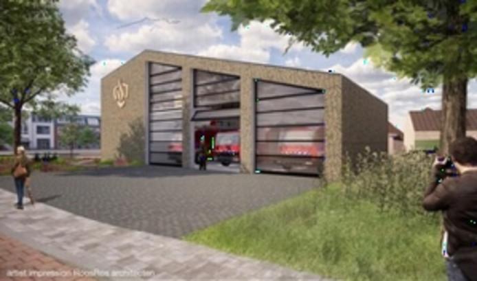 Het ontwerp van de nieuwe brandweerkazerne in Renswoude