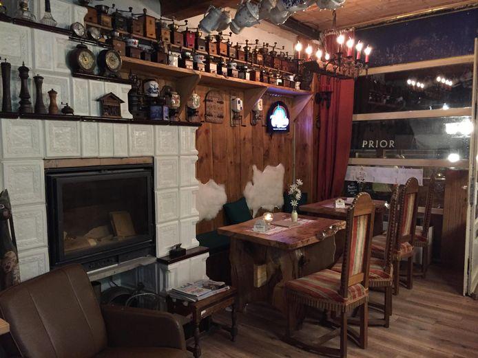 Café De Wettel werd omgebouwd tot een Oostenrijkse bierstube.