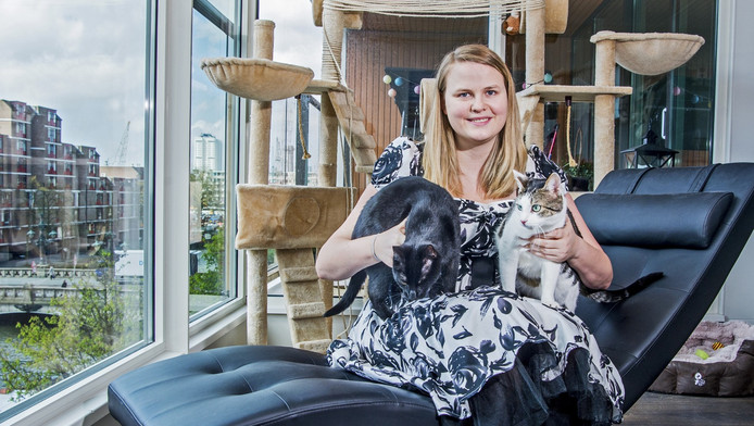 Initiatiefneemster Friederike Haumann (25) heeft er alle vertrouwen in dat het kattencafé er komt.