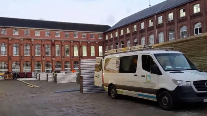 Opbouw vaccinatiedorp op site De Zwaan gestart