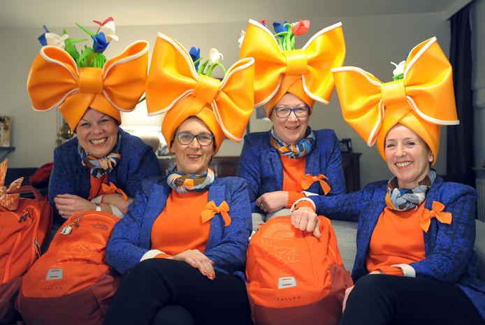 Deborah, Sonja, Ellie en Sonja zijn klaar voor de Olympische Spelen.