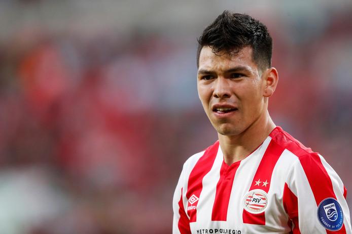 Hirving Lozano ging niet okselfris van het veld na PSV-VfL Wolfsburg.