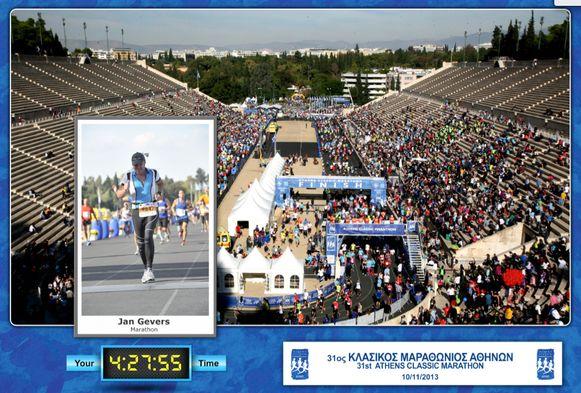De eerste marathon: die van Athene in 2013.