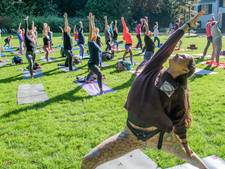 Yogales in het Randenbroekerpark voor Nepalese weeskinderen