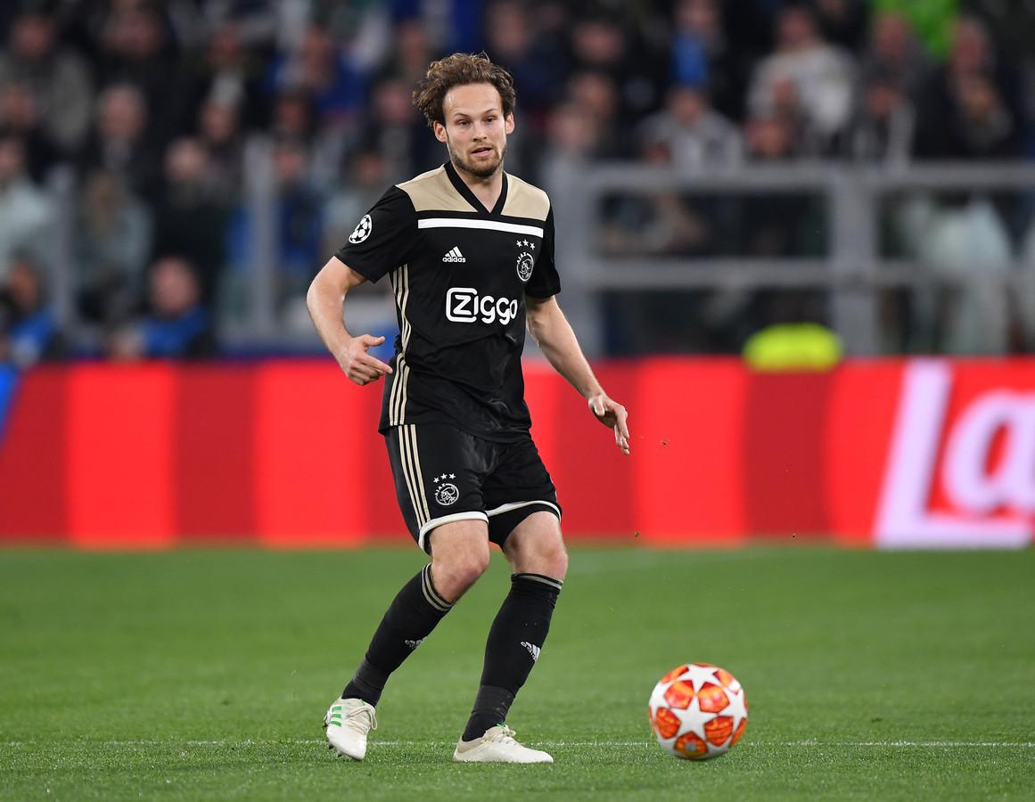 Daley Blind in actie tijdens het Champions League-duel in Turijn.