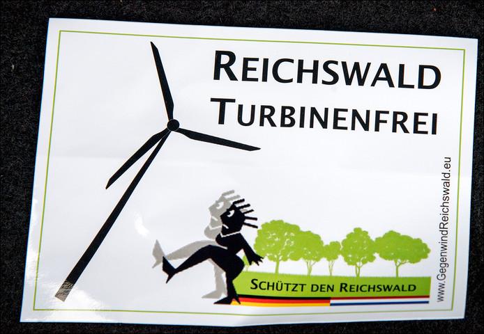 De actiegroep Tegenwind/Gegenwind heeft zich vijf jaar lang verzet tegen het windpark.