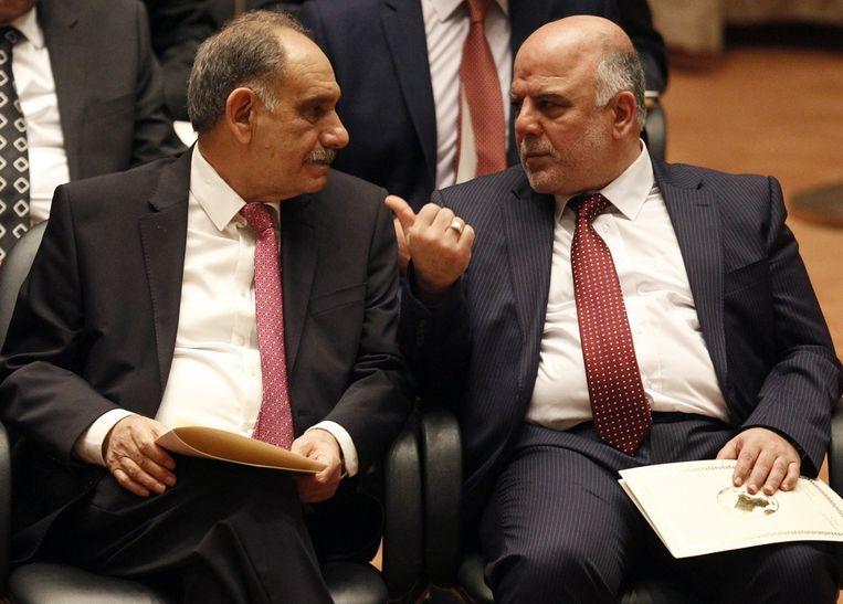 Haider al-Abadi (rechts). Beeld reuters