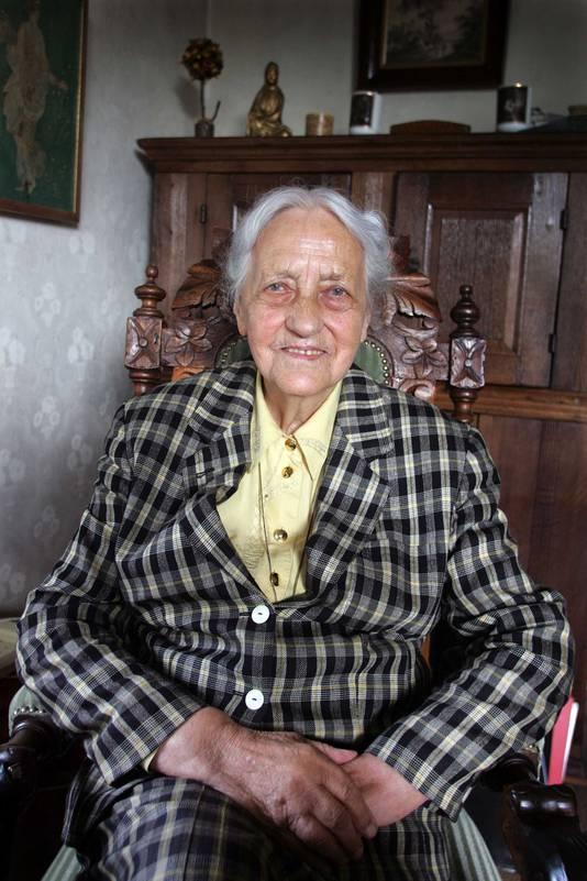 Cora Baltussen, 'moeder van de Sosabowski Brigade', op archiefbeeld.