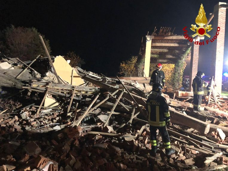 Drie brandweermannen om het leven gekomen bij een ontploffing in Quargnento in Piemonte.