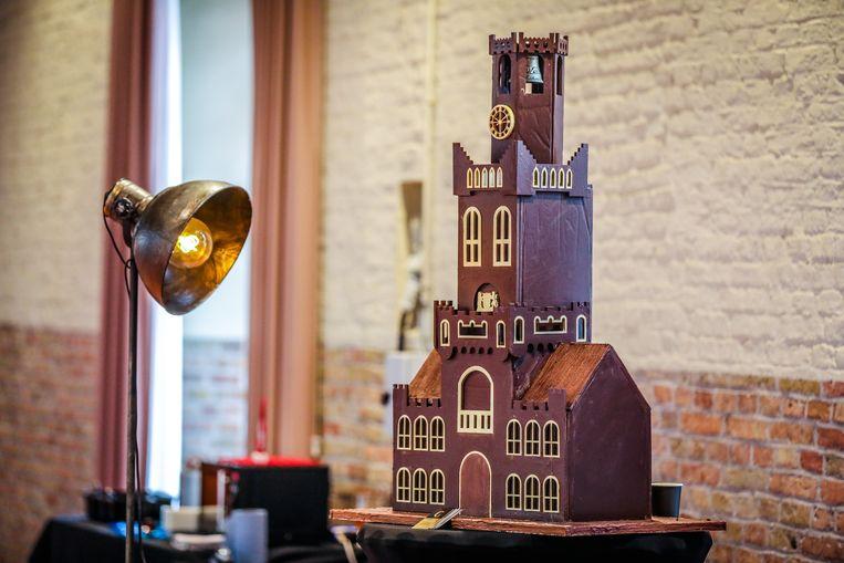 Het Brugse Belfort in chocolade.