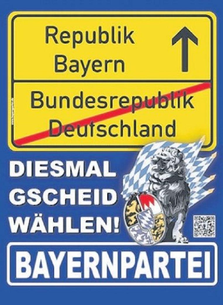 null Beeld Verkiezingsposter van de Bayernpartei.
