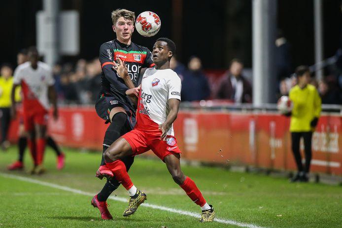 Een vorige wedstrijd van Jong Utrecht tegen NEC.