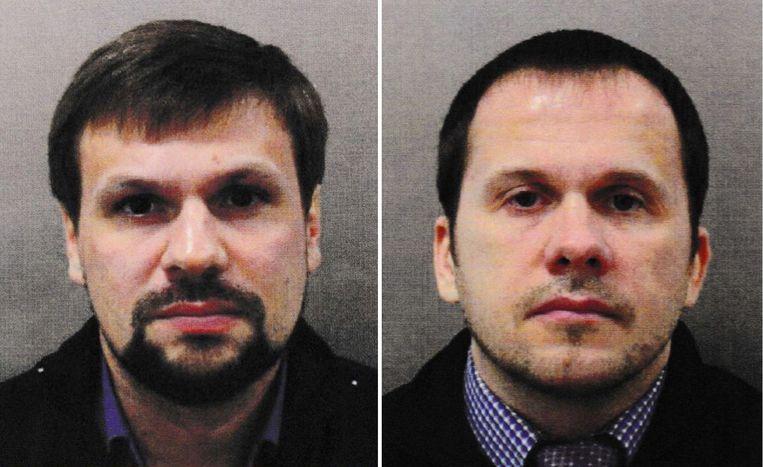 Ruslan Boshirov (L) en Alexander Petrov (R).