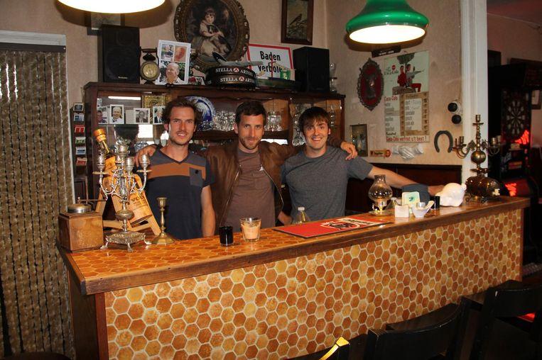 Wouter, Dieter en Sander in café 't Wielke.