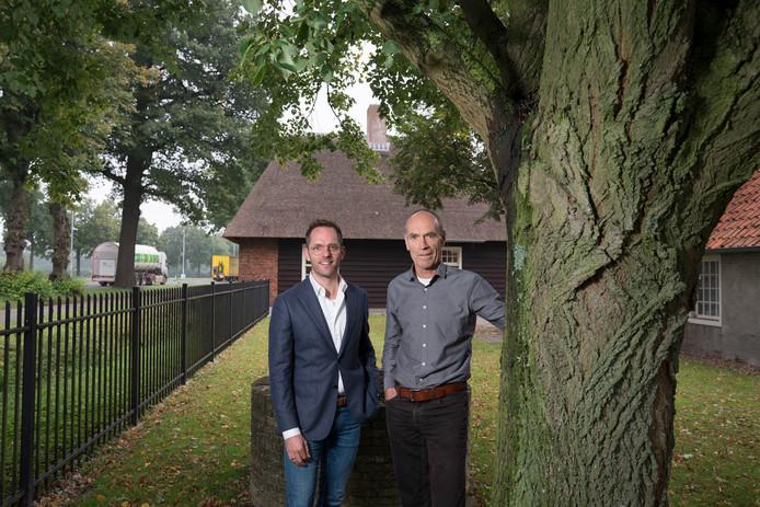 Langs de N65 in de gemeente Haaren ligt het groenbedrijf BTL,  vlnr directeur Hugo Later en Frans van Zon.