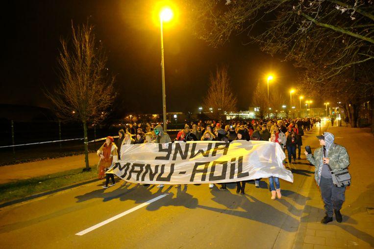 Herdenkingsmars voor Manu en Adil, die vorig weekend in Deurne verongelukten.