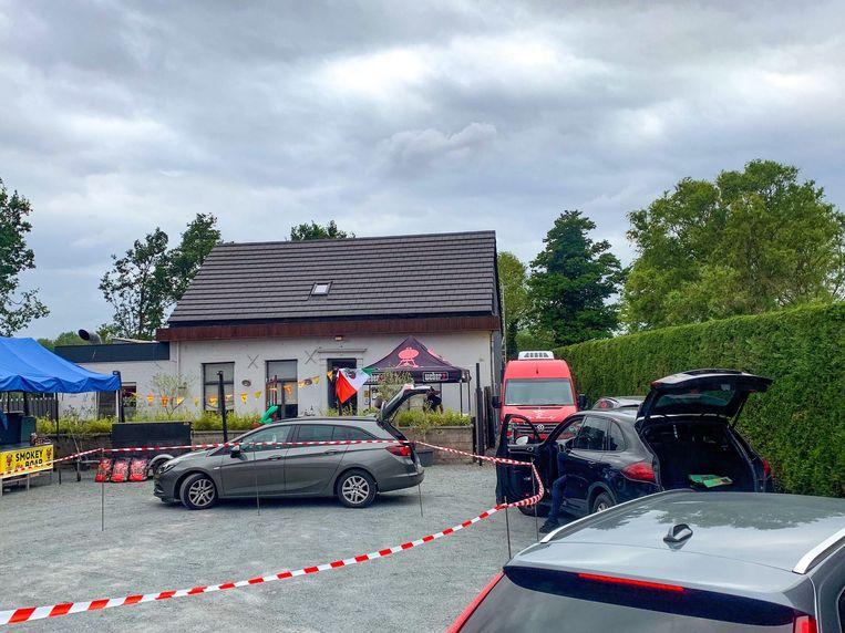 De 'Drive Thru Taco-box' aan restaurant Den Dorsvlegel in Nieuwkerken.