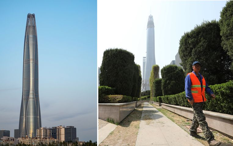 Het Tianjin CTF Finance Centre is met 530 meter wereldwijd het hoogste gebouw dat er in 2019 bij kwam.