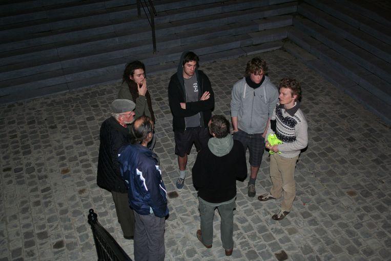Actievoerders voor de windmolens in 2011
