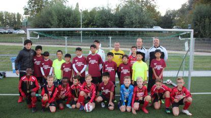 Voetballertjes U11 FC Mere speelden spannende interland tegen Japanse bezoekers