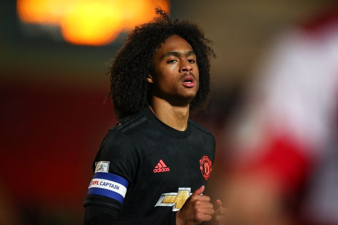 Tahith Chong, captain van United U21.
