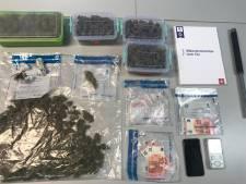 Politie vindt kilo cannabis en verboden wapen bij dealer