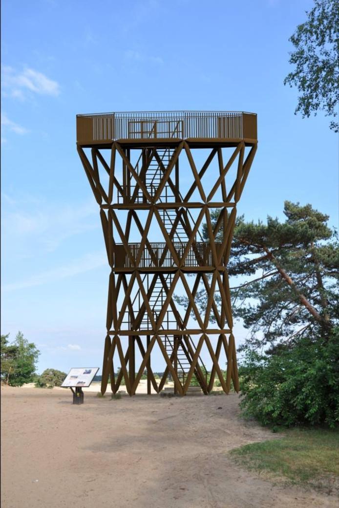 Illustratie van de nieuwe uitkijktoren.
