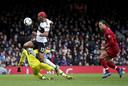 Een zeldzame blunder van Virgil van Dijk tegen Fulham stelde Ryan Babel in staat om te scoren.