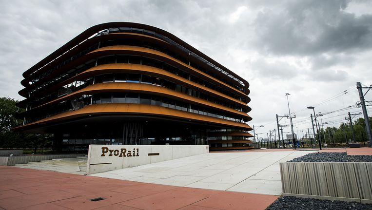 Exterieur van de nieuwe verkeersleidingspost van ProRail. Beeld anp