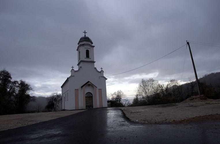 Een kerkje in het dorp Zarozje. Beeld ap