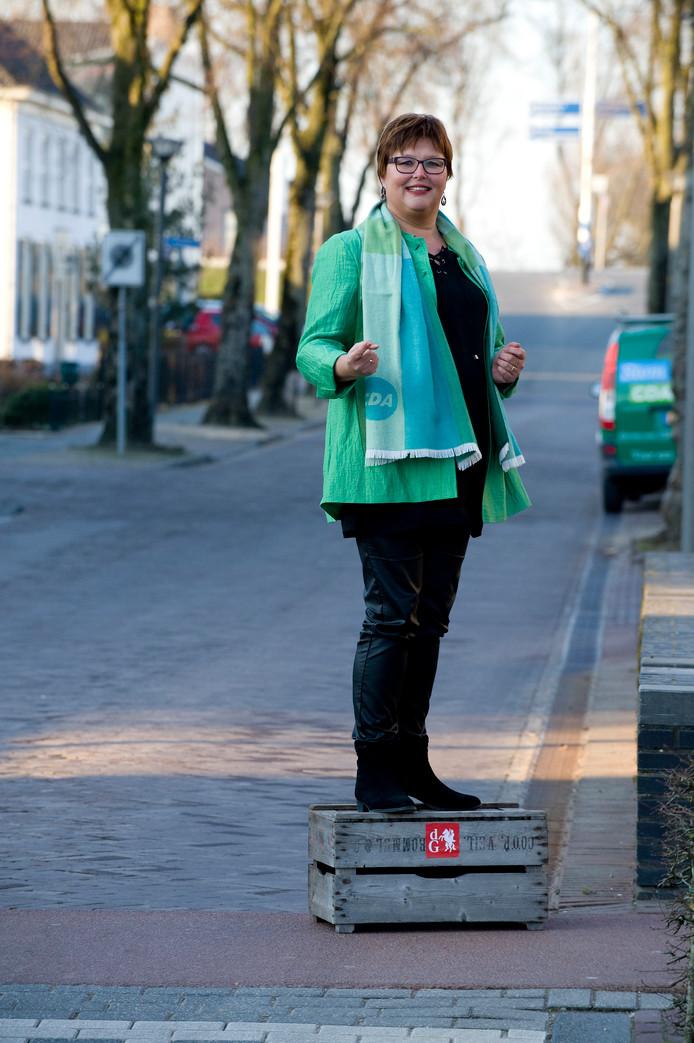 CDA fractievoorzitter Herma van Dijkhuizen.