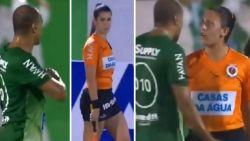Duurste voetballer ooit uit 1997 wordt de les gespeld door vrouwelijke ref nadat hij hartje maakt naar lijnrechter