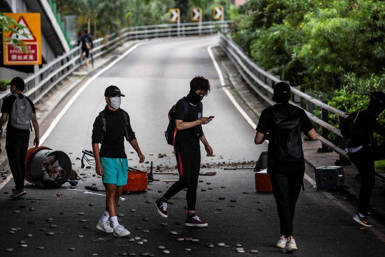 Protesten in Hongkong tegen de overheid.  Beeld AFP