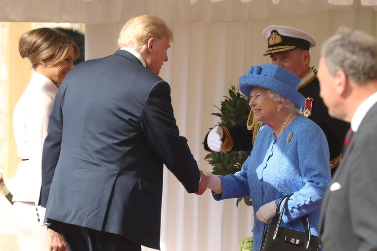 Trump had ook een ontmoeting met de Queen in Windsor Castle.