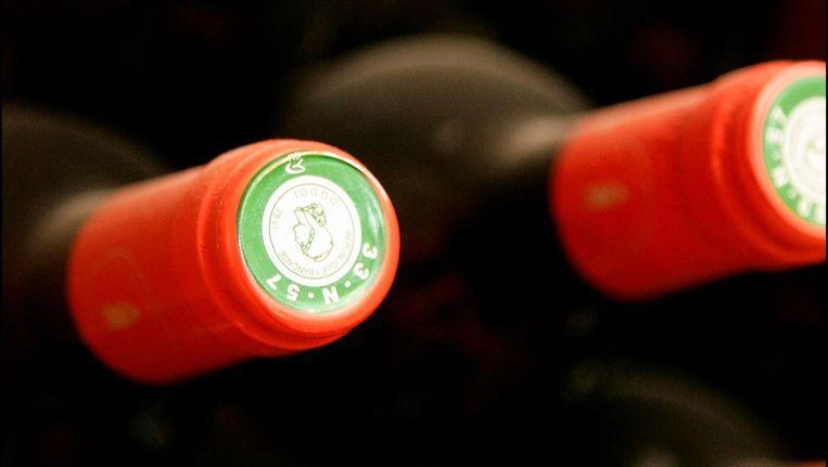 Veel wijnflessen hebben een kunststofkurk in plaats van een echte kurk. Beeld anp