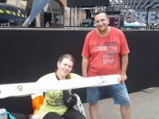 Voor de beste plaatsen bij Muziekfeest op het Plein hebben Jacqueline en Kenny wel zeven uur wachten over
